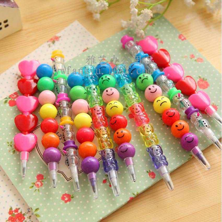 Cute 10 Pcs DIY Cute Kawaii Crayon for Kids Painting Drawing Toy Baby Shower Birthday Back to School Favor Gift