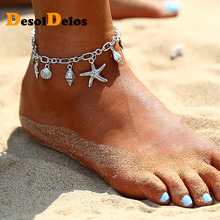 2019 New Bohemian Boho Starfish Shell Anklets For Women Ankle Bracelets On The Leg Anklet Beach Accessories Drop shipping