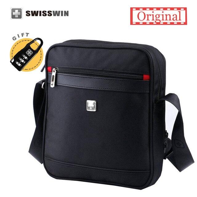 Swiss Men Messenger Shoulder Bag Crossbody Waterproof Oxford Zipper S Brand Travel Bags