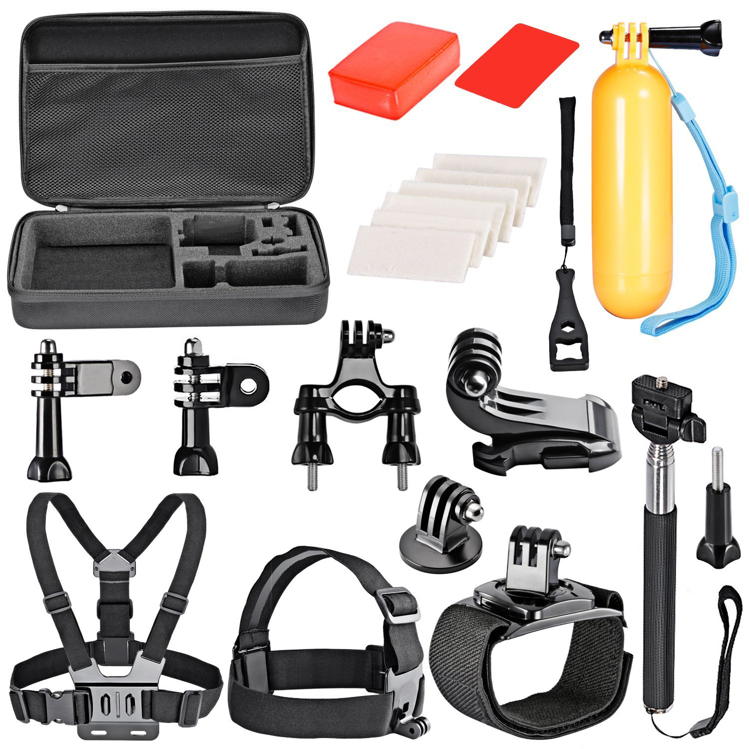 CES-18-In-1 Sport Accessory Kit for GoPro Hero4 Session Hero series for Xiaomi Yi in Skiing Climbing Bike Camping Diving and CES