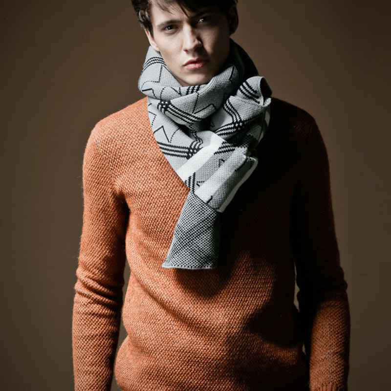 Fashion Pattern Scarf Men Geometric Patchwork font b Tartan b font Foulard Bufandas Men Luxury Brand