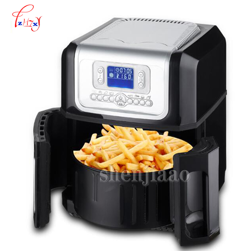 XK301 LCD third generation of the whole intelligent 3.2L large capacity without oil Electric Deep Fryers Cooking Appliances 1PC the five generation of large capacity intelligent french fries without oil electric deep fryers