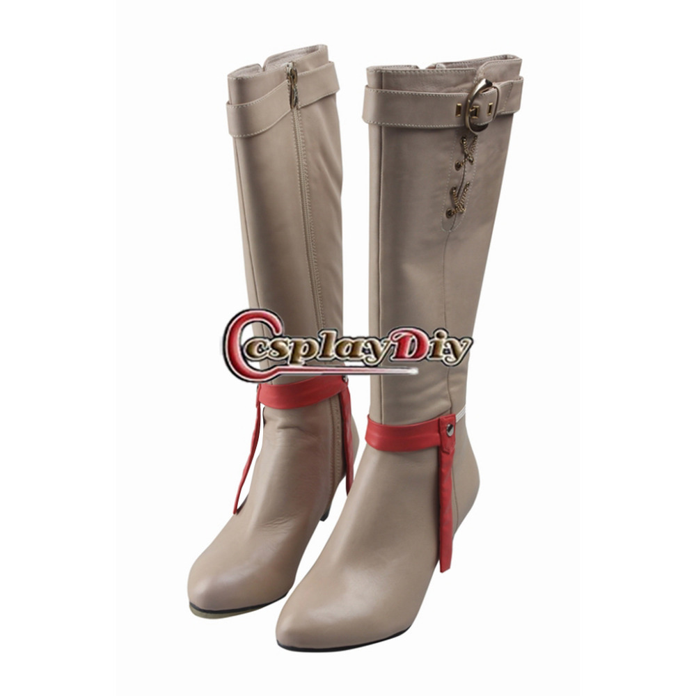Final Fantasy XV Cindy Aurum Cosplay Shoes Boots Halloween Costume Accessories For Adult Women Custom Made saint seiya cosplay shoes boots anime shoes for adult men s halloween cosplay accessories custom made