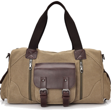 Famous Brand Men Vintage Canvas Men Travel Bags Women Weekend Carry On Luggage Bags Leisure Duffle