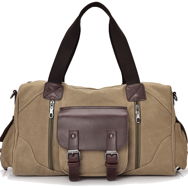8c9688bbd74 Famous Brand Men Vintage Canvas Men Travel Bags Women Weekend Carry On  Luggage   Bags Leisure