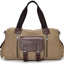 Famous Brand Men Vintage Canvas Men Travel Bags Women Weekend Carry On Luggage & Bags Leisure Duffle Bag Large Capacity Handbags