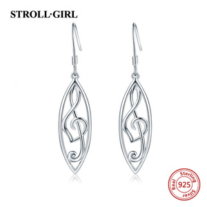 Image 5 - Strollgirl 7 Pairs/set Weekly Earrings 925 Sterling Silver Tree Music Symbol Owl Bat Animal Drop Earrings for Women Jewelry