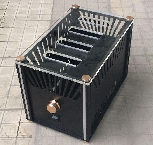BZ2223RKV aluminum tube power discharge box AMP shell / case / DIY box (227 * 254 * 362mm)