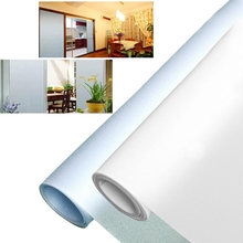 1PCs 30/40/50cm PVC Wide Opaque Privacy Static Glass Window Film Home Decor Frosted Window Sticker Office Bathroom Glass Film(China)