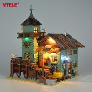 MTELE LED Light Kit For 21310 Old Fishing Store Building Block Lighting Set Compatible With M0odel 16050 For Kids Christmas Gift