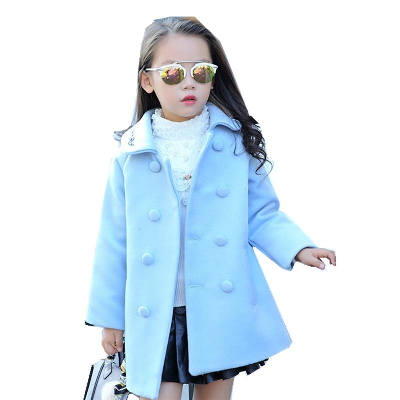 цена Winter Girls Long Sleeve Print Flower Warm Coat Children Outerwear Kid School Autumn Keep Warm Christmas Cute Thick Wool Coat в интернет-магазинах