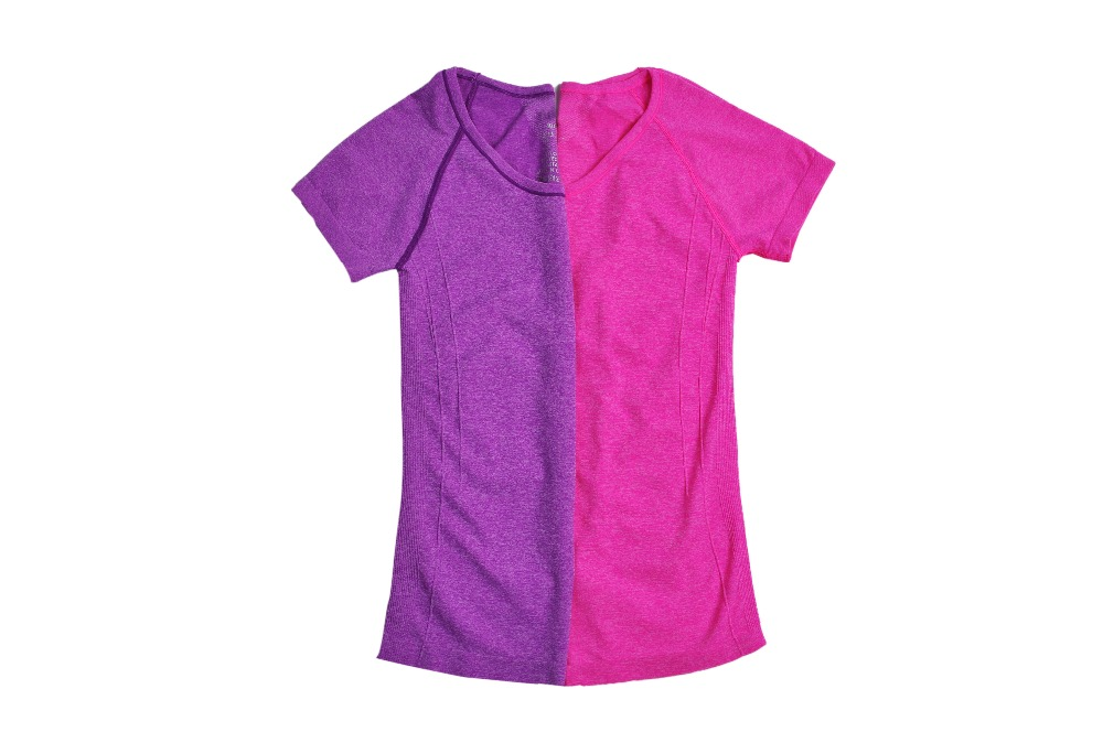 2016 Women Top O-Neck Short Sleeve Sport Short Wicking Quick Dry Shirts For Gym Running Breathable Fitness Women Tops Clothes