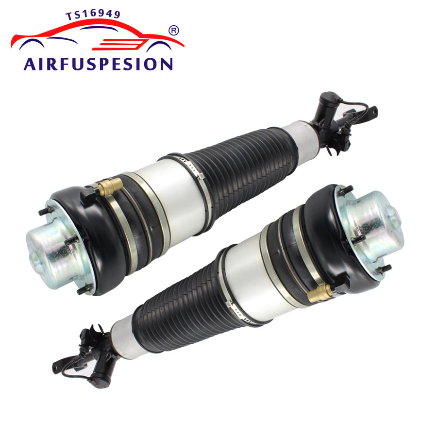 Pair For Audi A6 C6 4F Allroad quattro Front Air Suspension Shock Strut Air Spring 4F0616039 4F0616040 4F0616039S 2005-2011 air suspension bag repair kits rear left for audi allroad quattro 2001 2005 new spring shock strut oem 4z7616051a