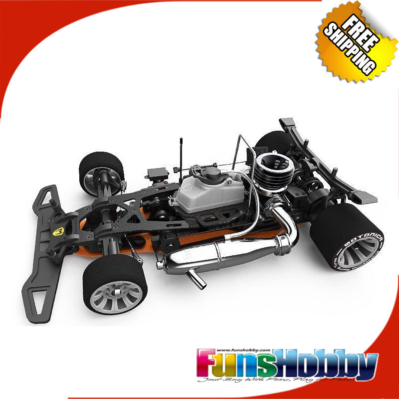 Italy Motonica 1/8 RC Nitro Car Kit P8F Without VOX OTTO V1 Rally Tech Engine&One Set of Motonica Tyres&Battery Pack image