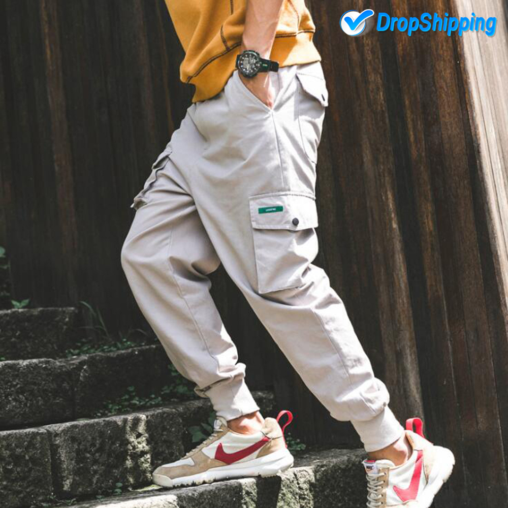 MASCUBE Streetwear Harem Pants Men Jogger Pants Men Fitness Trousers Male Japanese Loose Cargo Pants pantalon homme