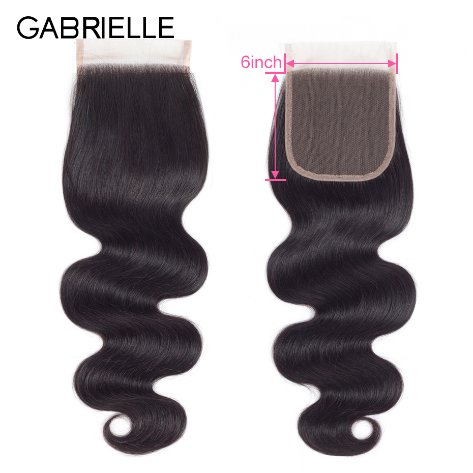 Gabrielle Lace Closure Remy-Hair 100%Human-Hair Body-Wave Natural-Color 8-20inch Brazilian
