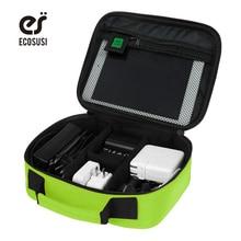 Ecosusi новый цифровых аксессуаров отделочных мешок зарядное устройство данных кабель, сумка для хранения mp3 наушники usb flash drive отделка мешок