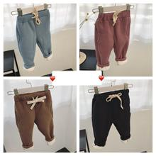 2018 Autumn Winter Trousers Children's Wear Korean Version Deep Plus Pile Thickened Lamb's Pits Girl Pants Baby Girl Clothes