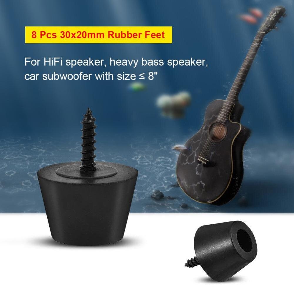 Gemotiveerd 8 Stks 30x20mm Rubber Voeten Anti-vibratie Basis Pad Stand Voor Speaker Gitaar Versterker W/ Schroeven