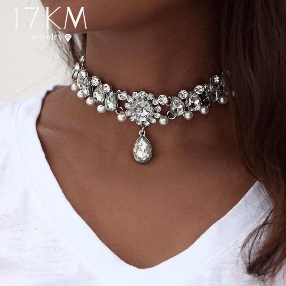Drop Crystal Choker Necklace - lifestyle shot 1