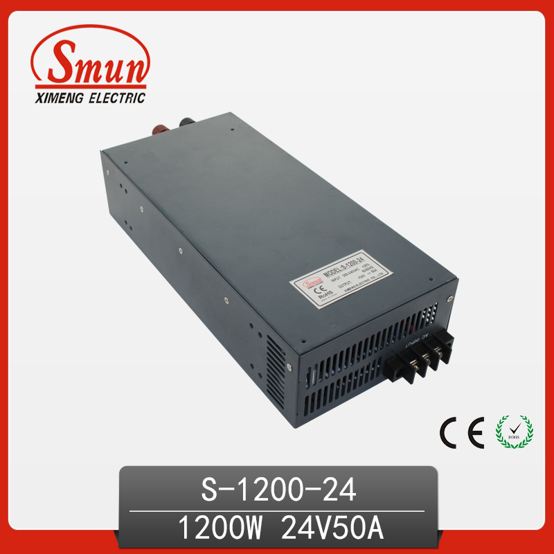 1200W 24V 50A Single Output High Efficiency AC/DC Switching Power Supply For LED And Industrial Control Transformer System
