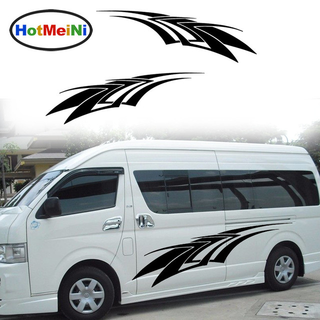 Hotmeini 2 x sharp spears fast forward courageously resolute assassination car sticker for van car styling