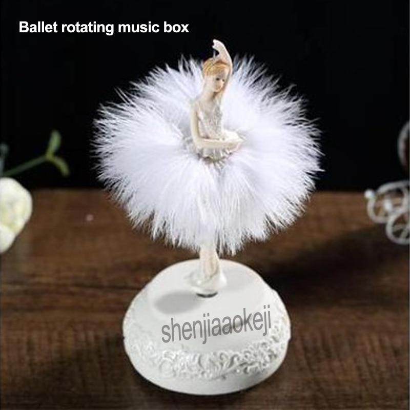 Ballet rotatif boîtes à musique élégant raffiné ballerine danse carrousel boîte à musique bricolage mariage cadeau d'anniversaire pour les filles