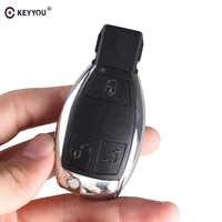 KEYYOU 3 boutons à distance clé de voiture coque pour MERCEDES BENZ Smart Key Fob S SL ML SLK CLK E titulaire insérer clé Chorme