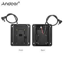 Andoerバッテリーアダプターベースプレートバッテリープレート用lilliput feelworldモニターsony np f550 f770 f970 f960 f750バッテリー