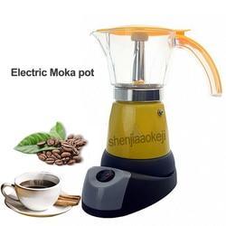 B10-600 Coffee Percolators Italian Mocha Maker Electrical Espresso Moka Pot  Household Coffee pot for 6 people 220-240v 480w 1pc