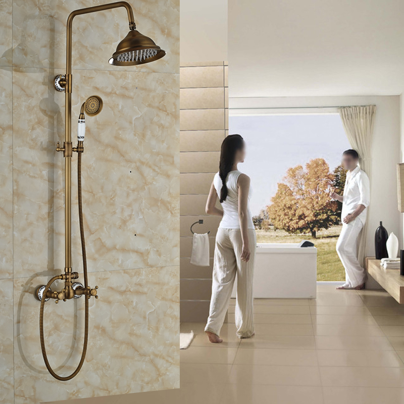 New Promotion Mixer Taps for Bathroom 8 Rainfall Shower Head with Dual Handles