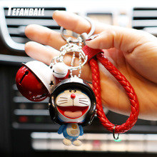 Marvel Avengers Captain America Key Holder Figure Doraemon Keychain Kids Toy Leather Rope Ring