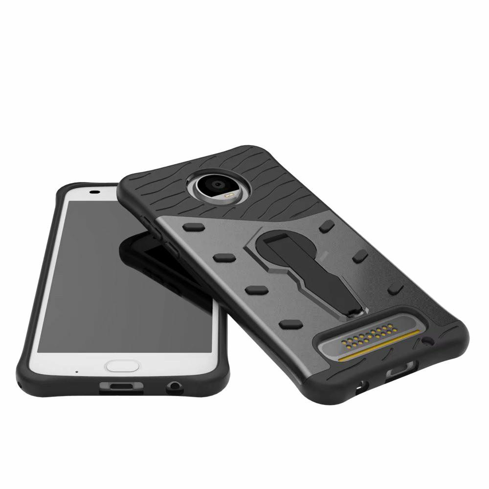 For Motorola MOTO Z2 Play CASE Shockproof Rugged Armor Hybrid Case 360 Stand Cover For MOTO Z2 Play