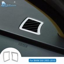 Velocidad LHD para BMW E60 etiqueta para BMW E60 accesorios BMW E60 Trim Interior aire acondicionado salida marco pegatinas 05-10