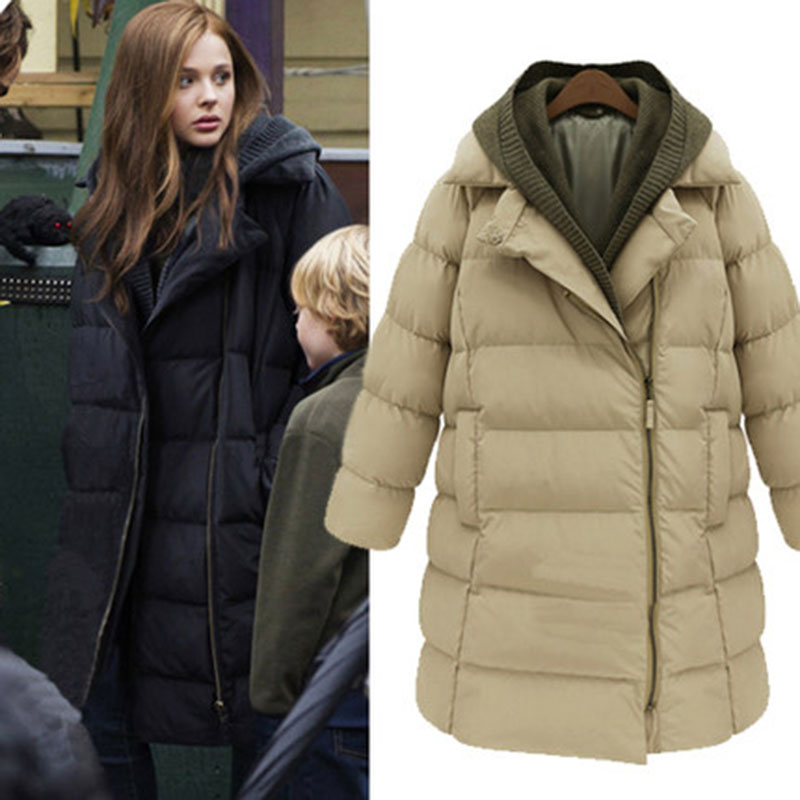 b48653e912a New 2018 Woman Winter Jacket Coat Down Parka Plus Size Long Warm Hooded Coat  Thickening Snow Wear Wadded Padded Jacket