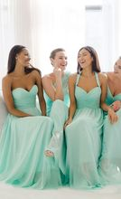2017 Elegant Mint Bridesmaid Dress Different Style New Arrival A-line Chiffon Long Cheap Bridesmaid Dresses