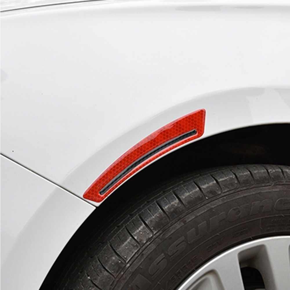 سيارة عجلة ملصقا عاكسة الشارات حافة الشريط تحذير قطاع 5d الكربون الألياف سيارة ملصقات سيارة اكسسوارات التصميم السيارات
