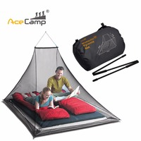 2Person Camping Mosquito Net Pyramide Bed Tent Nylon Head Lightweight Foldable Portable Outdoor Gear Camping Fishing Accessories