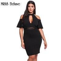 ÖZLEDIM Davranmaya 2017 kadın elbise Sonbahar Ve Yaz Moda artı boyutu siyah elbise Kalem Kanatlar Kelebek Kol Mini parti elbiseler