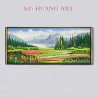 Pastoral scenery oil painting sunflower children room villa dafeng catcher scenery seascape club hall sofa sitting room offi