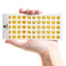 12 листов/lot (1 пакета(ов)) Kawaii emoji Бумага Стикеры для Скрапбукинг papeleria подарок Бесплатная доставка 3326