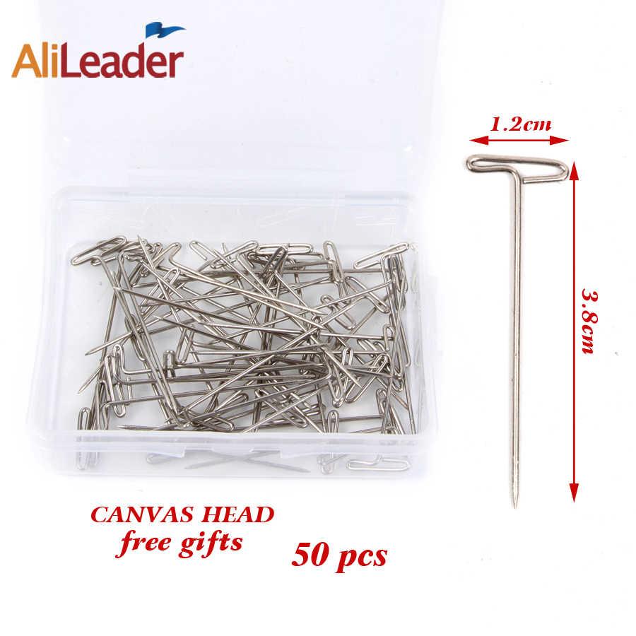 Alileader 21-25 cabeza de bloque de lienzo cabeza de maniquí soporte para pelucas para estilizar la fabricación de pelucas con abrazadera de mesa/alfileres herramientas para hacer pelucas