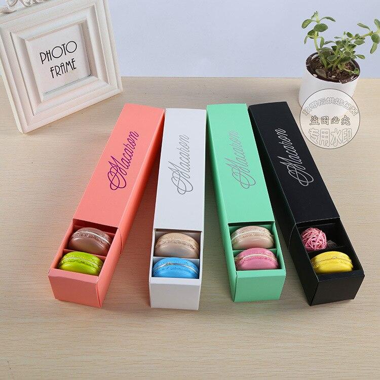 Caja de postre Macaron Rosa blanco negro y verde 6 cavidades coloridas macarons cajas de embalaje de pastelería 100 piezas-in Suministros de envoltorios y bolsas de regalo from Hogar y Mascotas    1