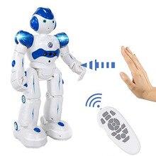 Развивающий Интеллектуальный RC робот игрушки для детей usb зарядка пульт дистанционного управления программируемая Роботизированная Игрушка Дети подарки на день рождения