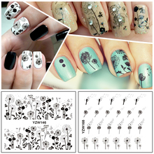 ZKO 2 Patterns/Sheet Flying Dandelion Nail Art Water Decals Transfer Sticker YZW146&168