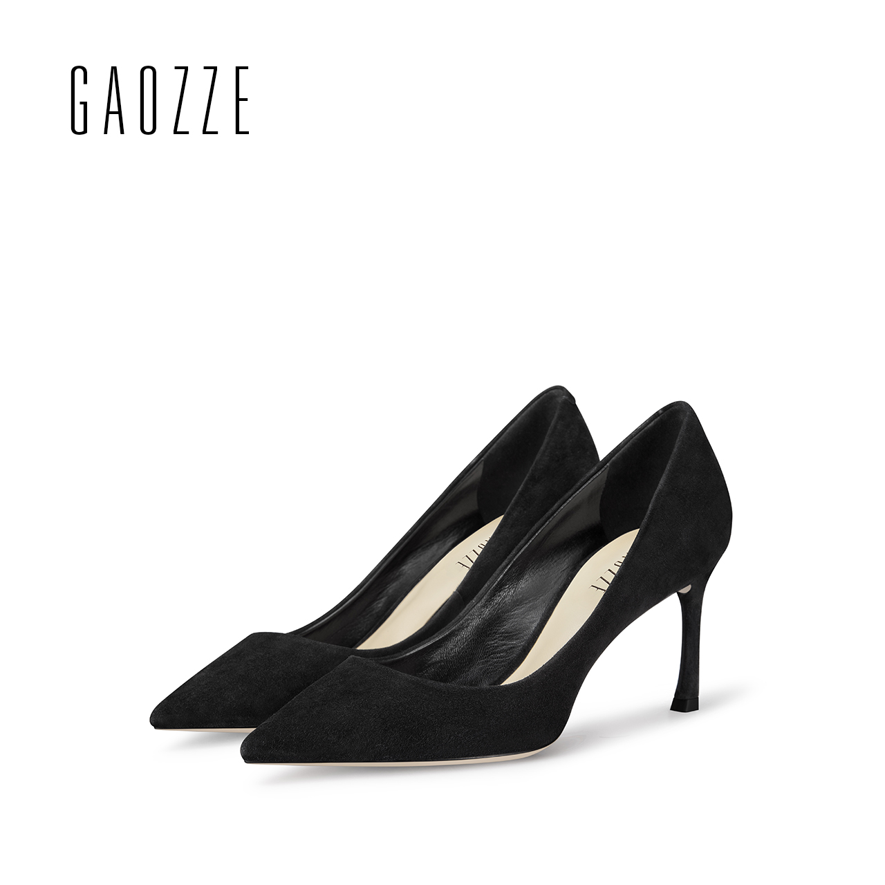 GAOZZE new spring summer Sheep suede leather women shoes pointed toe high heels pump shoes female shallow mouth office shoes 7cm black 2016 wine red navy blue cashmere genuine leather round toe shallow mouth ultra high heels female boots female