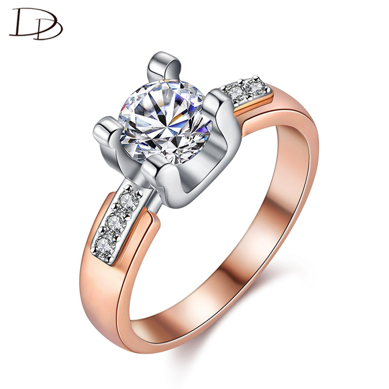 Classical Rose Gold Color Finger Rings Simple Jewelry Vintage Ring - Fashion Jewelry