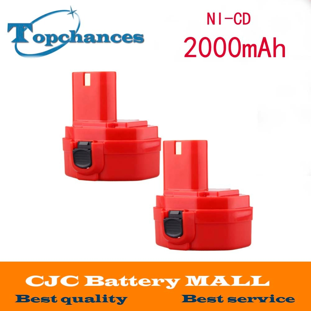 2 Pcs <font><b>14.4V</b></font> 2000mAh Replacement Battery for Makita 1420 1422 1433 1434 1435 1435F 4000 6000 Series 192699-A 193158-3 image