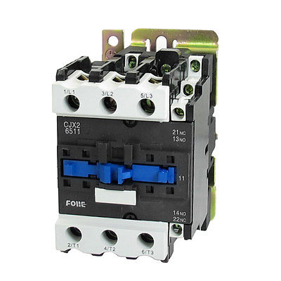 380V Coil Metal Base AC Contactor 3 Pole 3P NO NC 660V 37KW CJX2-6511 3 pole 3p motor protection thermal overload relay 4 6a 1 no 1 nc