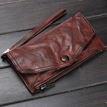Мужской кошелек gumst из натуральной кожи высокого качества